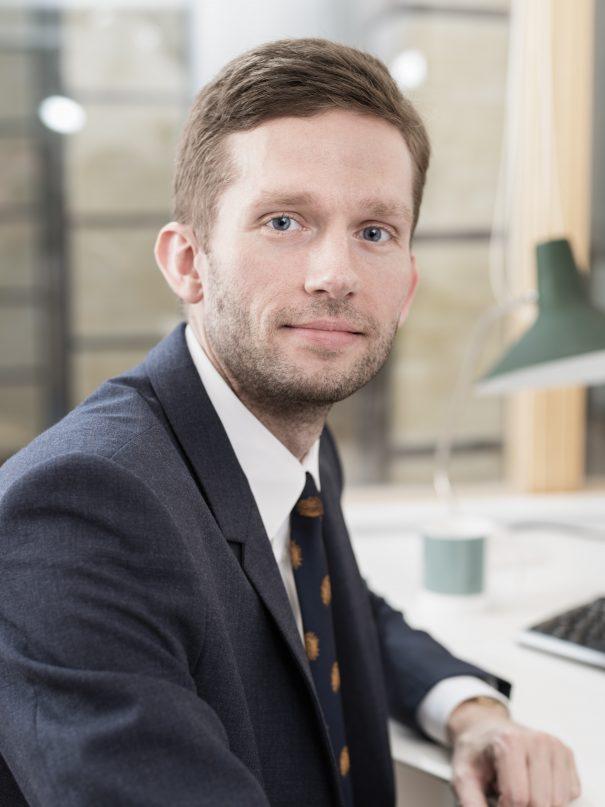 Foto på Johan Lidén advokat på Front Advokater